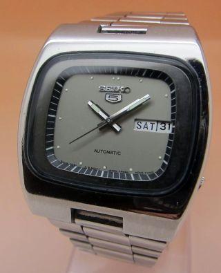 Seiko 5 Square Tv 6309 - 5080 Automatik Uhr Datum & Taganzeige Bild