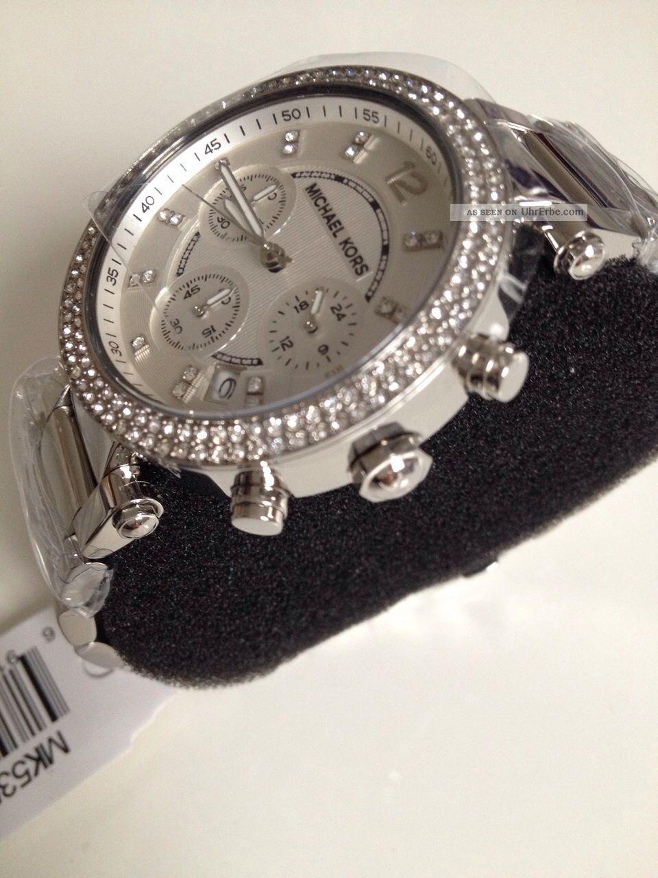 michael kors uhr mk5353 parker damen chronograph edelstahl armbanduhr. Black Bedroom Furniture Sets. Home Design Ideas