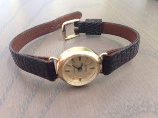 Wunderschöne Damenarmbanduhr In 585 Gold Uhr Armbanduhr Vintage Bild
