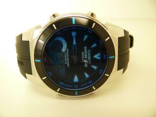 Casio 3796 Mrp - 700 Marine Gear Mondphasen Gezeitengrafik Herren Armbanduhr Watch Bild