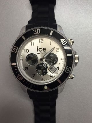 Ice Watch Chrono Black Sili Big Bild