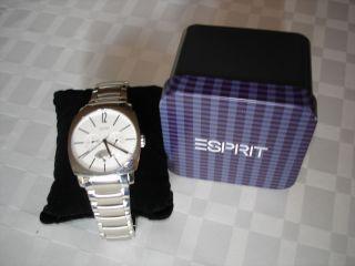 Esprit Herren Quarz Uhr Aus Edelstahl In Silber,  Analog,  Wasserdicht,  Sport Bild