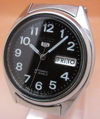 Seiko 5 Durchsichtig Automatik Uhr 7s26 - 0550 21 Jewels Datum & Tag Bild