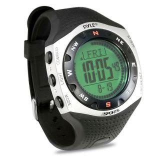 Pyle Marathonlauf Sport Uhr Alarm Compass Chronograph Wasserfest 30m Bild