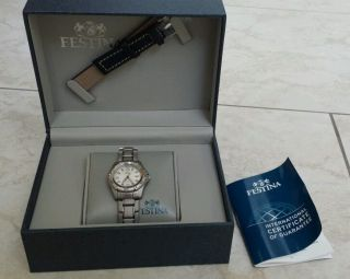 Unisex Festina F16172/1 Nagelneue Uhr Ovp Silber F161721 Armbanduhr Bild