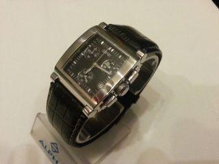 Esprit Damenuhr,  Chronograph,  Uhr,  Datum,  Edelstahl,  Leder,  Lederband Schwarz Bild