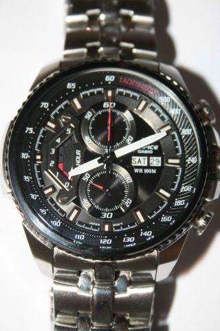 Casio Edifice Herren Chronograph Quarz Ef - 558d - 1avef Bild