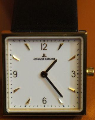 Jacques Lemans Uhr Damen Damenuhr Gold Ledearmband Bild