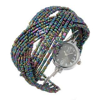 Damen Armring Damenuhr Quarz Uhr Helix Armbanduhr Armreif Quarzuhr Watch Schmuck Bild