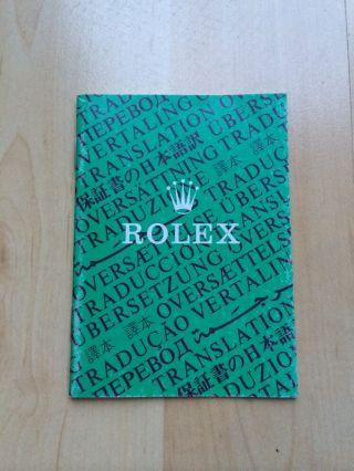 Rolex Oyster Chronometer Bescheinigung /booklet Vintage Rarität Bild