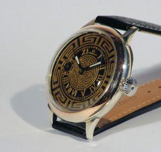 Omega Armbanduhr Silber Umbau 49mm - Top Bild