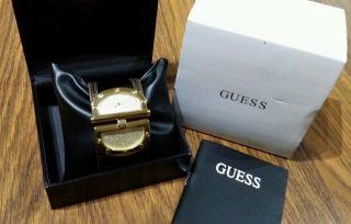 Guess Uhr Lack Leder Animal - Print Damenuhr Braun/gold Mit Box Bild