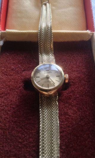Gold Damenuhr 585 14k Echtgold Armbanduhr Goldarmband Schmuck Bild