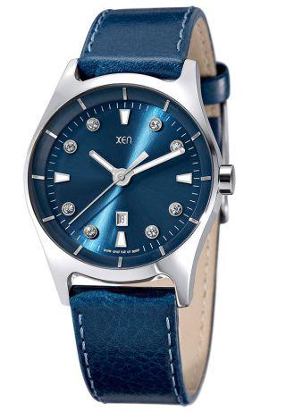 Xen Damenuhr Blau Mit Swarovski Crystals Xq0250 Bild