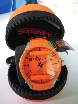 Superdry Scuba Uhr Syg 1090 Xl Orange Bild