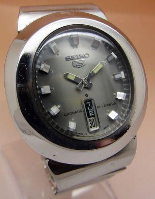 Seiko 5 Mechanische Automatik Uhr 6119 - 5450 21 Jewels Datum & Taganzeige Bild