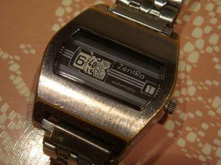 Zentra - Scheibenuhr - Digital - Uhr - Herrenuhr - Gold - Sammleruhr Bild
