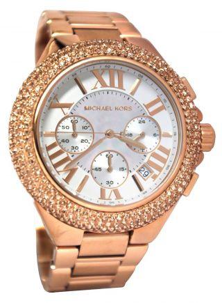 Michael Kors Mk5636 Armbanduhr Damenuhr Roségold Kristalle Ovp Bild