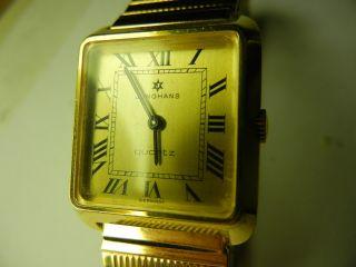Junghans Quartz Uhr Vergoldet Bild