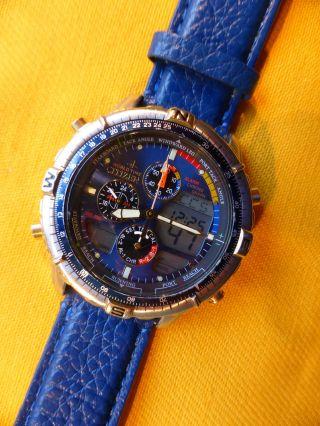 Citizen Promaster C320 Navisurf,  Worldtime,  Chronograph,  Leder,  Teildefekt? Bild