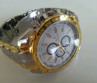 Luxus Herren Armband Uhr Edelstahl Quarzuhr Armbanduhr Watch Bild