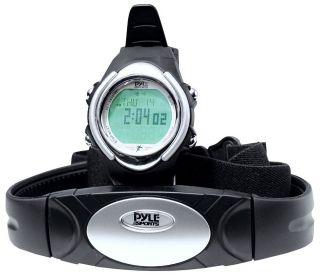 Pyle Sport Stopuhr Wireless Sendegurt Alarm Kalorie Herzfrequenz Wasserfest 10m Bild