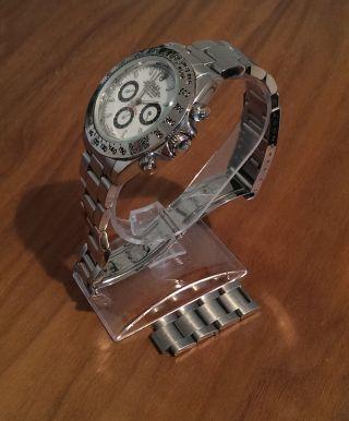 Fast Unsichtbarer Designständer Ideal Für Rolex Mit Glasboden Inkl.  Geschenk Bild