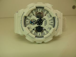 Casio G - Shock Ga - 120a 5229 Herren Armbanduhr World Time 1/1000 Chrono Weiss Bild
