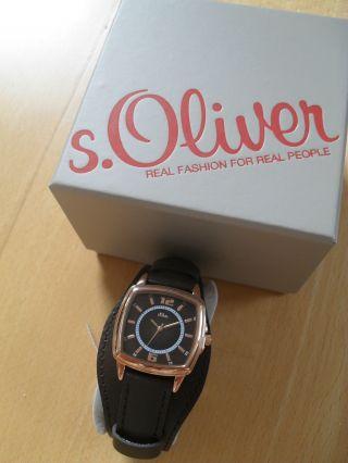 Edle Uhr Von S.  Oliver,  So - 2904 - Lq Rosegold/ Dunkelgrau,  Leder,  Trend 2014, Bild