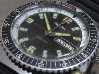 Sicura Automatic Breitling Diver17 Jewels 70er Herren - Armbanduhr Taucheruhr Mech Bild