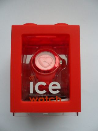 Ice Watch Uhr Armbanduhr Damen Rot Ice Love Red Small Swarovski Bild
