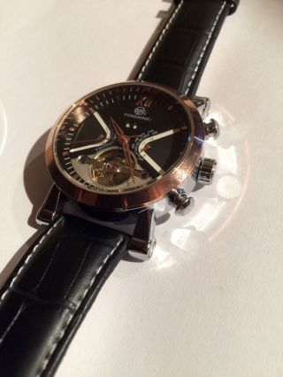 Automatik Uhr Chronograph Herrenuhr Uhr Armbanduhr Bicolor Datum Tag Monat Zeit Bild