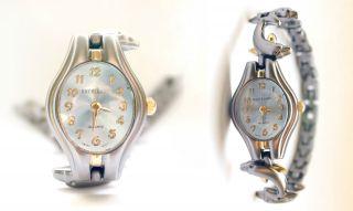 Uhr Armband Armbanduhr Excellence Analog Quartz Swiss Mov Delphin Silber Gold Bild