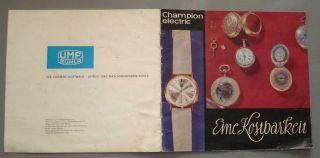 Ddr Umf Ruhla Uhren Katalog Album Champion Electric Herrenuhr Veb K.  Gottwald Bild