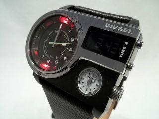 Diesel - Herrenuhr - Dz - 3 Zeitzonen - Edle Optik - Led Beleuchtung - Aus Sammlung Bild