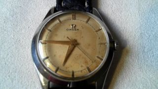 Omega Herrenuhr Handaufzug,  Kaliber 283 In Rotgold, Bild