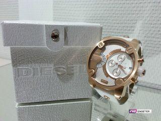 Diesel Uhr Little Daddy Herrenuhr Dz7271 Armbanduhr Xl Uhr Edelstahl/leder Bild