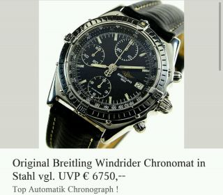 Breitling Windrider Cronograph Bild