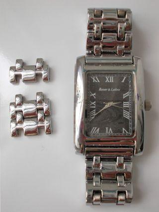 Ungetragen Rover & Lakes 2018g - 2 Silver Uhr Herrenuhr Armbanduhr Bild