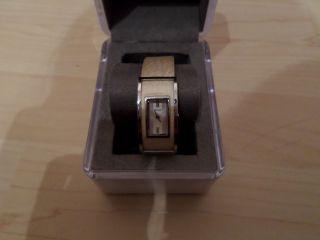 Dkny Uhr Donna Karan York Weis Silber Damen Elegant Bild