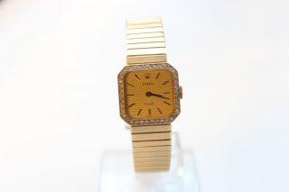 Rolex Diamanten 18k Gelb Gold Orchid Lady Damenuhr Handaufzug Besonderheit Bild