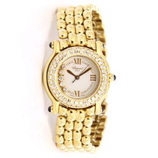 Chopard Happy Sport 18kt Gelb Gold Diamant Quarz Watch Watch 276151 - 0004 Bild