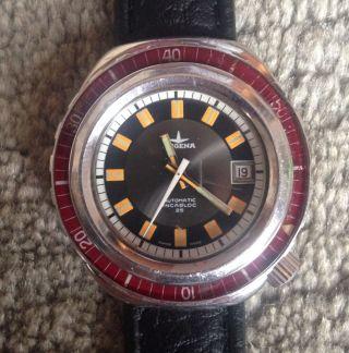 Dugena Dixi Vintage Diver - Squale Breil Manta Case - 30atm 990 Feet - Eta Autom Bild