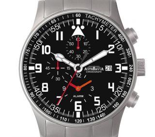 H4s,  40mm,  Astroavia,  Chronograph,  Wecker,  2 Zeiten,  Alarm,  Flieger Uhr Bild