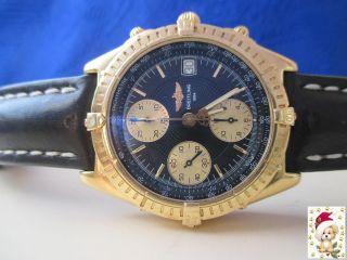 Breitling Chronomat In 18 Karat Gg Origin.  Lederb.  Dornschliesse In 18 K Bild