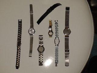 5 Damen Uhren Von Kalvin Klein,  Citizen,  Seiko,  Skagen,  Und Dugena Bild