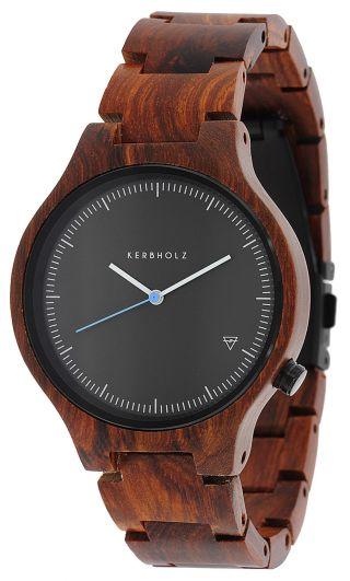Kerbholz Uhr Lamprecht Rosenholz Holz - Armbanduhr Bild