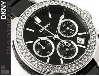 Dkny Damen - Armbanduhr Chronograph Quarz Keramik Ny8180 Uvp 375€ Bild
