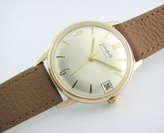 Top Glashutte 17 Rubis.  Gold Plated.  Cal.  69.  1.  Rarity Bild
