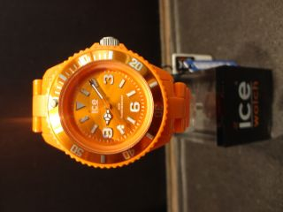 Ice Watch Cs.  Oe.  S.  P.  10 Kunststoff Armband Herren Uhr Damen Small Model Orange Bild